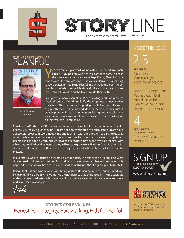 StoryLine Spring 2016